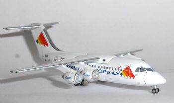 British Aerospace BAe 146-200 Jersey European Airways Jet-X Model Scale 1:400 G-JEAJ JET368  E